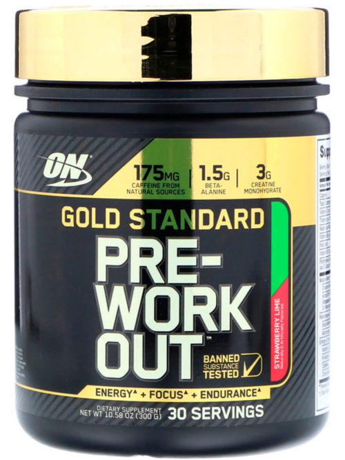 Optimum Nutrition Gold Standard PRE-Workout Клубника лайм