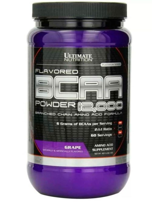 Ultimate Nutrition Flavored BCAA Powder 12000 Виноград
